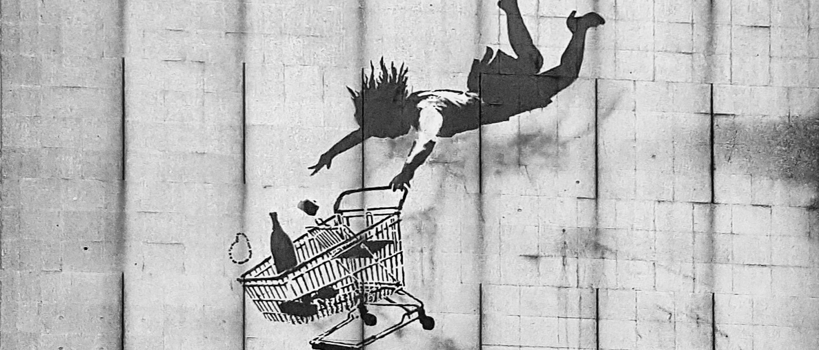 Back To The Future Shopping Banksy Landscape
